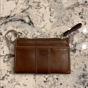 Coach ID Wallet with key ring EUC